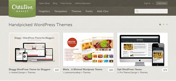 Creative Market - Themes para WordPress
