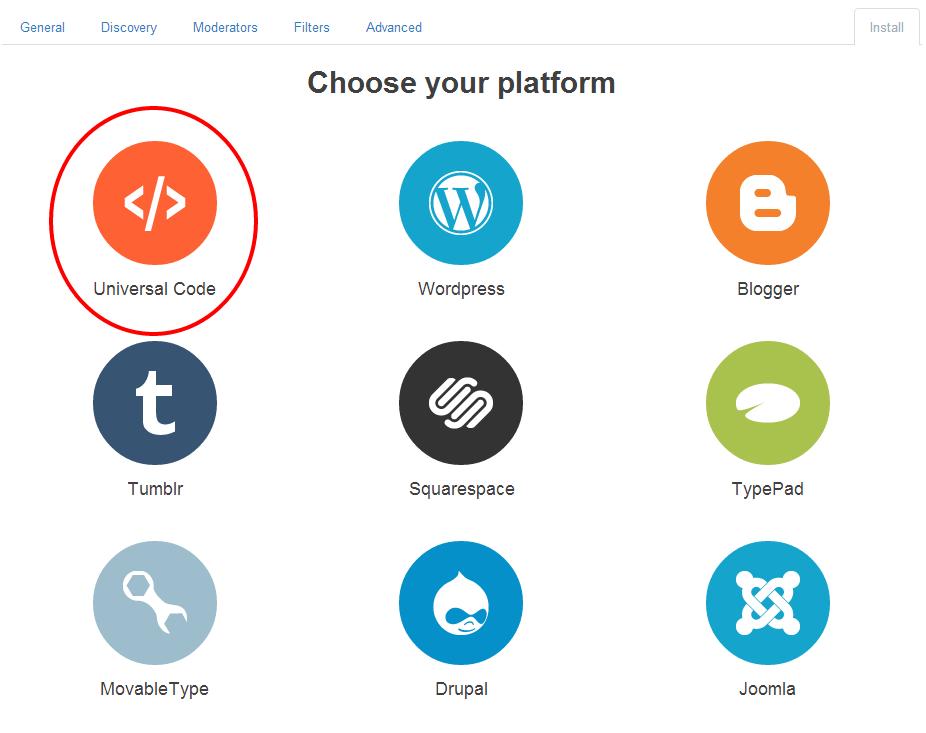 Disqus - Escoger Plataforma