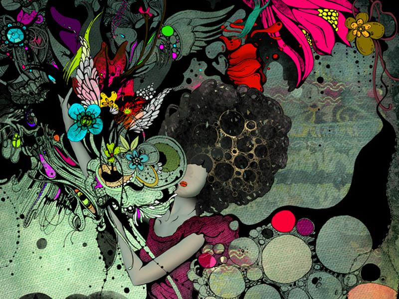 Ilustraciones Surrealistas y Llenas de Color de Linn Olofsdotter