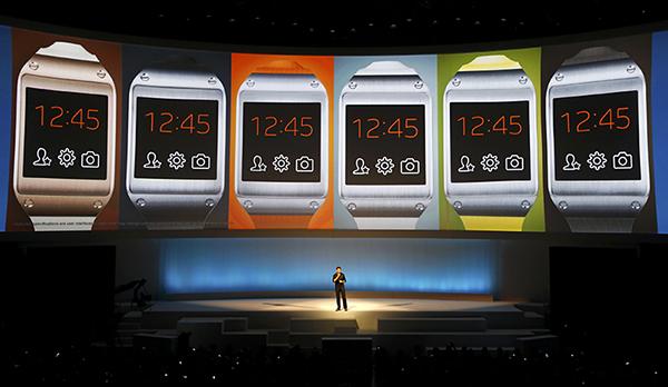 Pranav Mistry presentando el Samsung Galaxy Gear