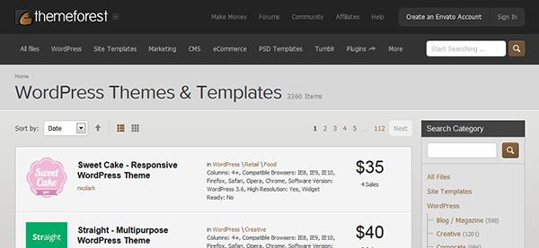 Themeforest - Themes para WordPress