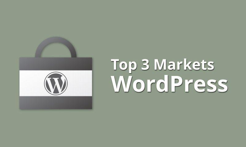 Top 3 Markets de Themes WordPress