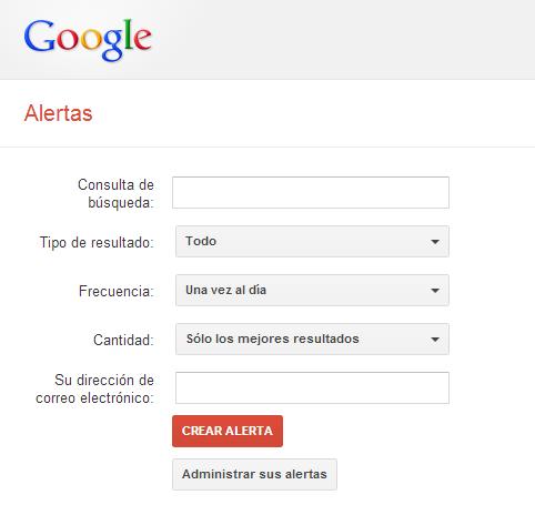 Configuración de las Alertas de Google