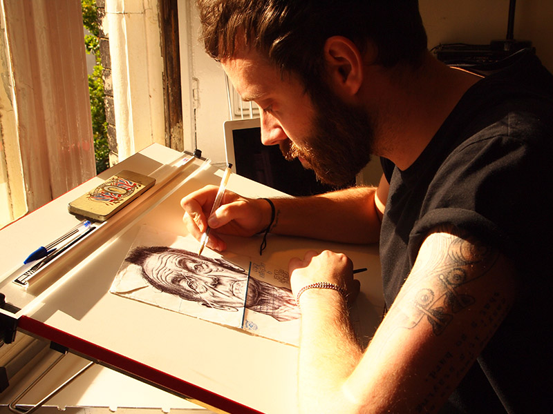 Dibujos en Cartas de Mark Powell