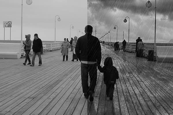 Añadir lluvia a una fotografía