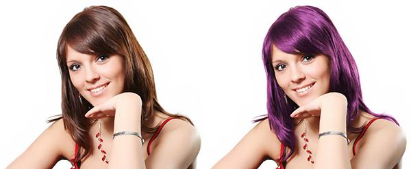 Cambiar color de pelo con Photoshop