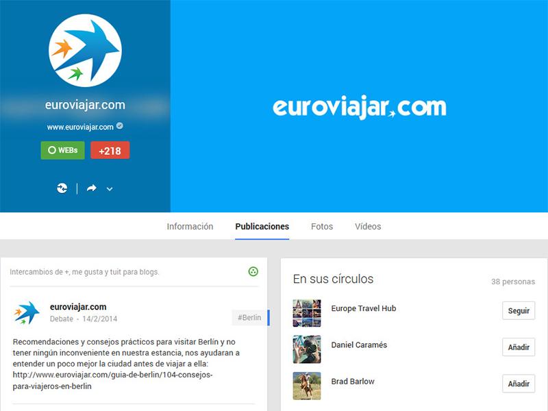 Portada de Euroviajar.com