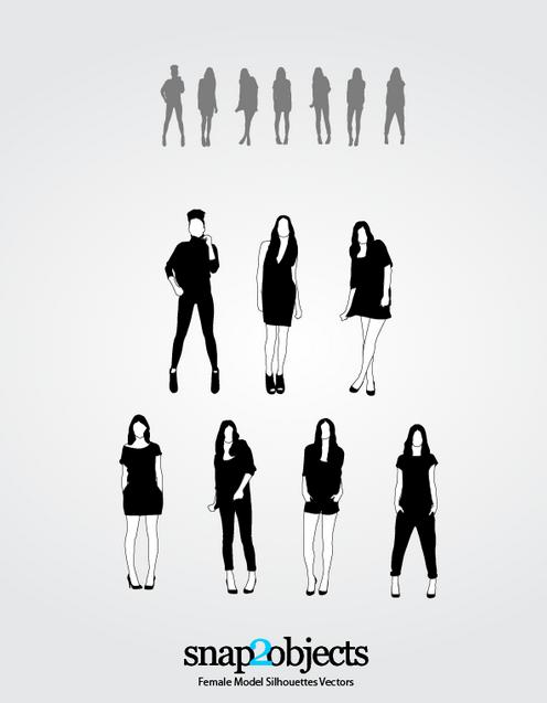 Siluetas de Modelos Femeninos
