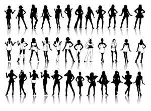 Siluetas de Chicas