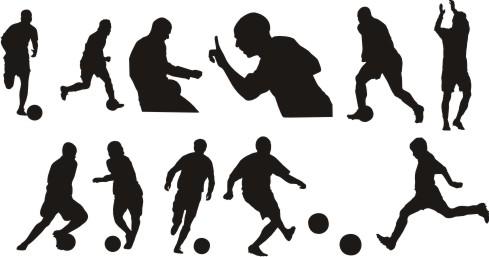 Siluetas de Futbolistas