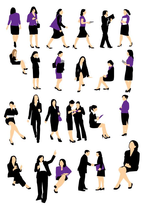 Siluetas de Mujeres de Negocios