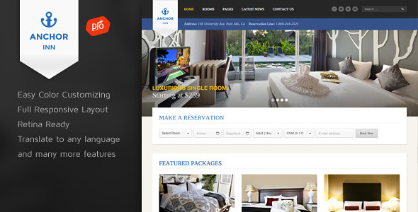 Tema WordPress Anchor Inn