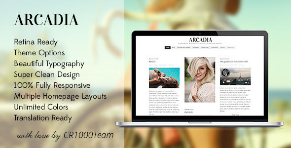 Tema WordPress Arcadia