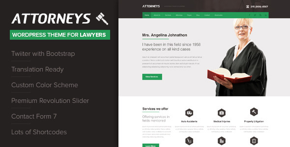 Tema WordPress Attorney