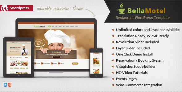 Tema WordPress Bella Motel