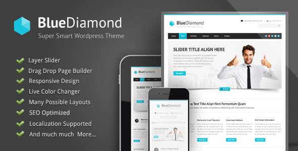 Tema WordPress Blue Diamond