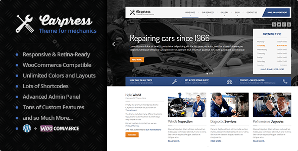 Tema WordPress Carpress