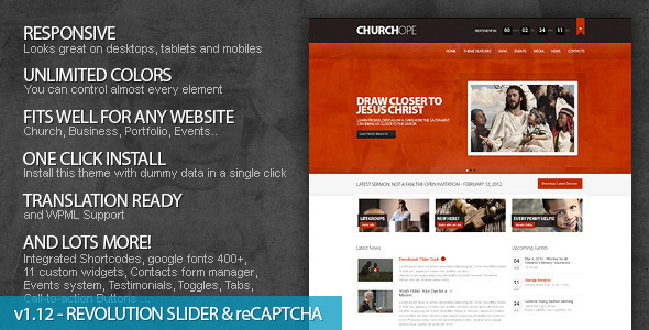 Tema WordPress ChurcHope