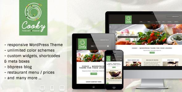 Tema WordPress Cooky Restaurant