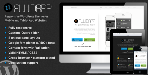 Tema WordPress Fluidapp