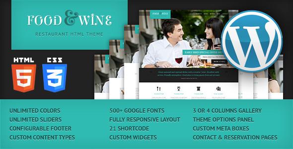 Tema WordPress Food & Wine