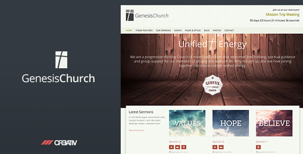 Tema WordPress Genesis Church