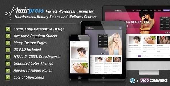 Tema WordPress Hairpress