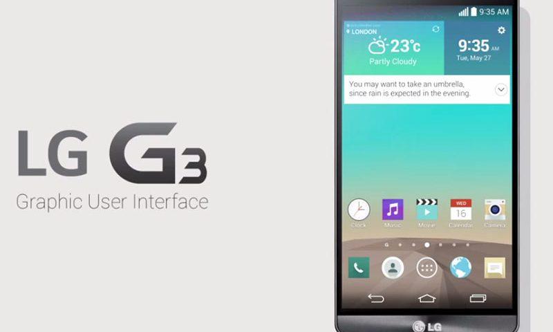 Interfaz de Usuario LG-G3