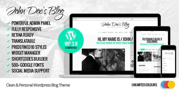 Tema WordPress John Doe's Blog