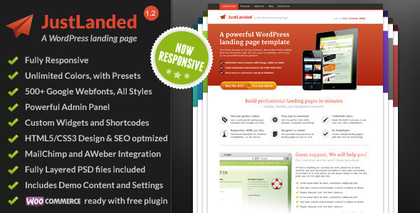 Tema WordPress Justlanded