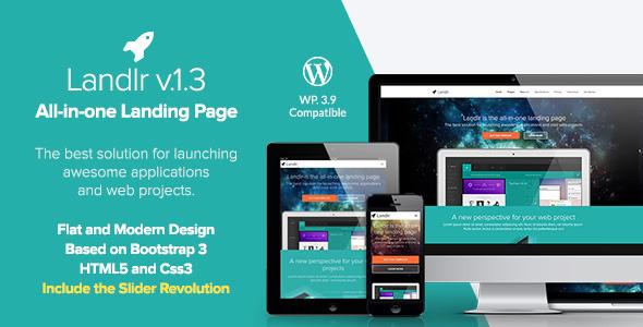 Tema WordPress Landr