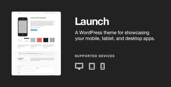 Tema WordPress Launch