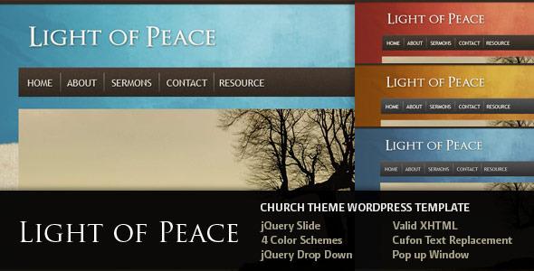 Tema WordPress Light of Peace