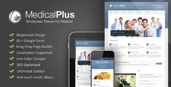 Tema WordPress Medical Plus
