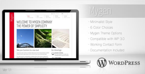 Tema WordPress Mygen