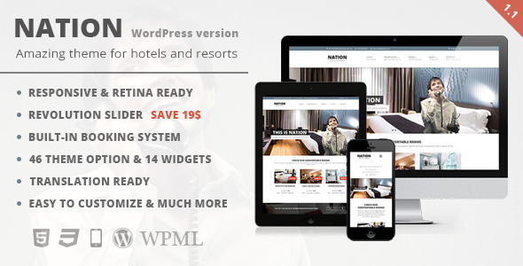 Tema WordPress Nation Hotel
