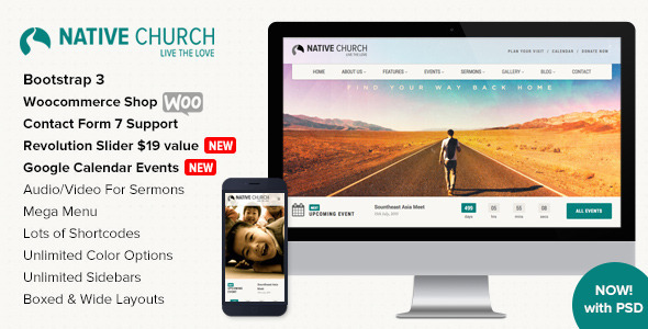 Tema WordPress Native Church
