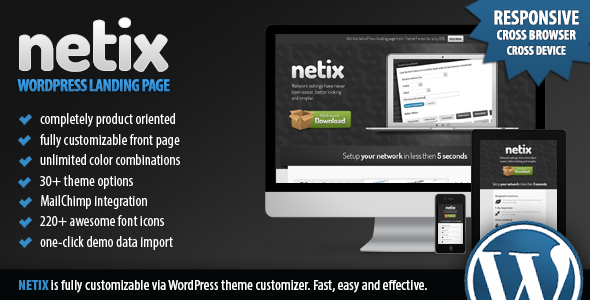 Tema WordPress Netix