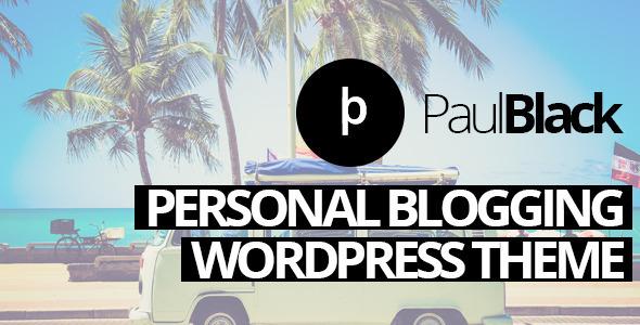 Tema WordPress PaulBlack