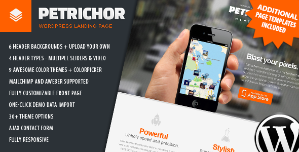 Tema WordPress Petrichor