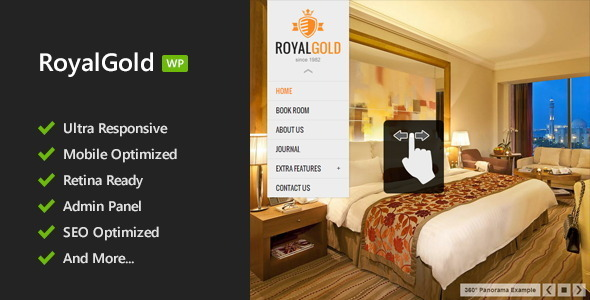Tema WordPress Royal Gold