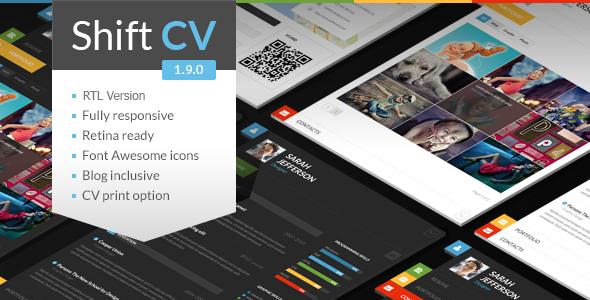 Tema WordPress ShiftCV