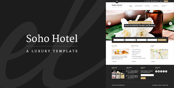 Tema WordPress Soho Hotel