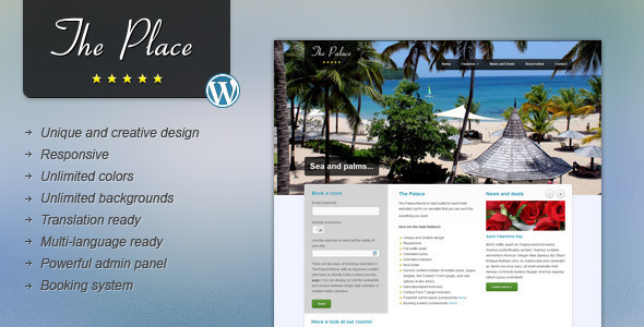 Tema WordPress The Place