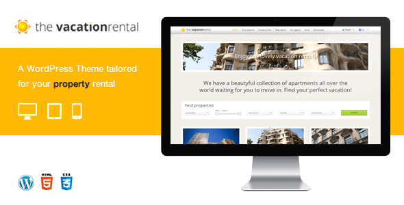 Tema WordPress The Vacation Rental