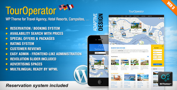Tema WordPress Tour Operator