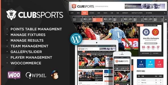 Tema WordPress Club Sports