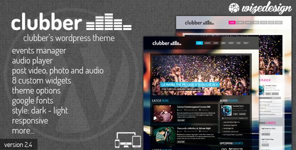 Tema WordPress Clubber