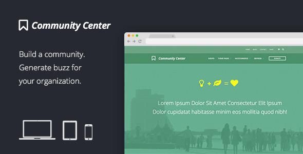 Tema WordPress Community Center