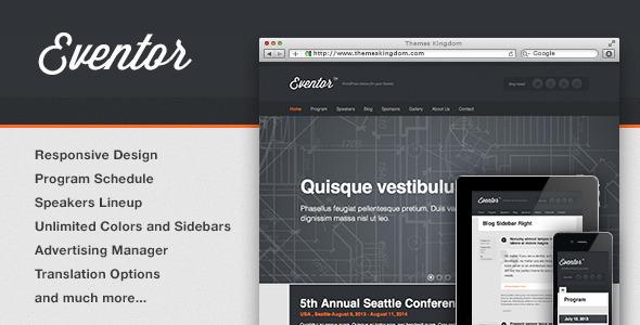 Tema WordPress Eventor